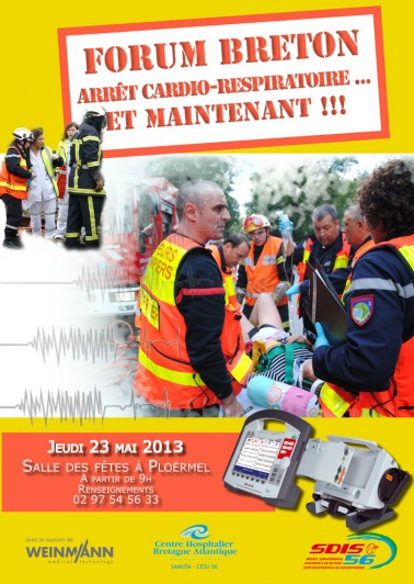 Affiche du Forum Breton Arrêt cardio-respiratoire... Et maintenant !!! Jeudi 23 Mai 2013