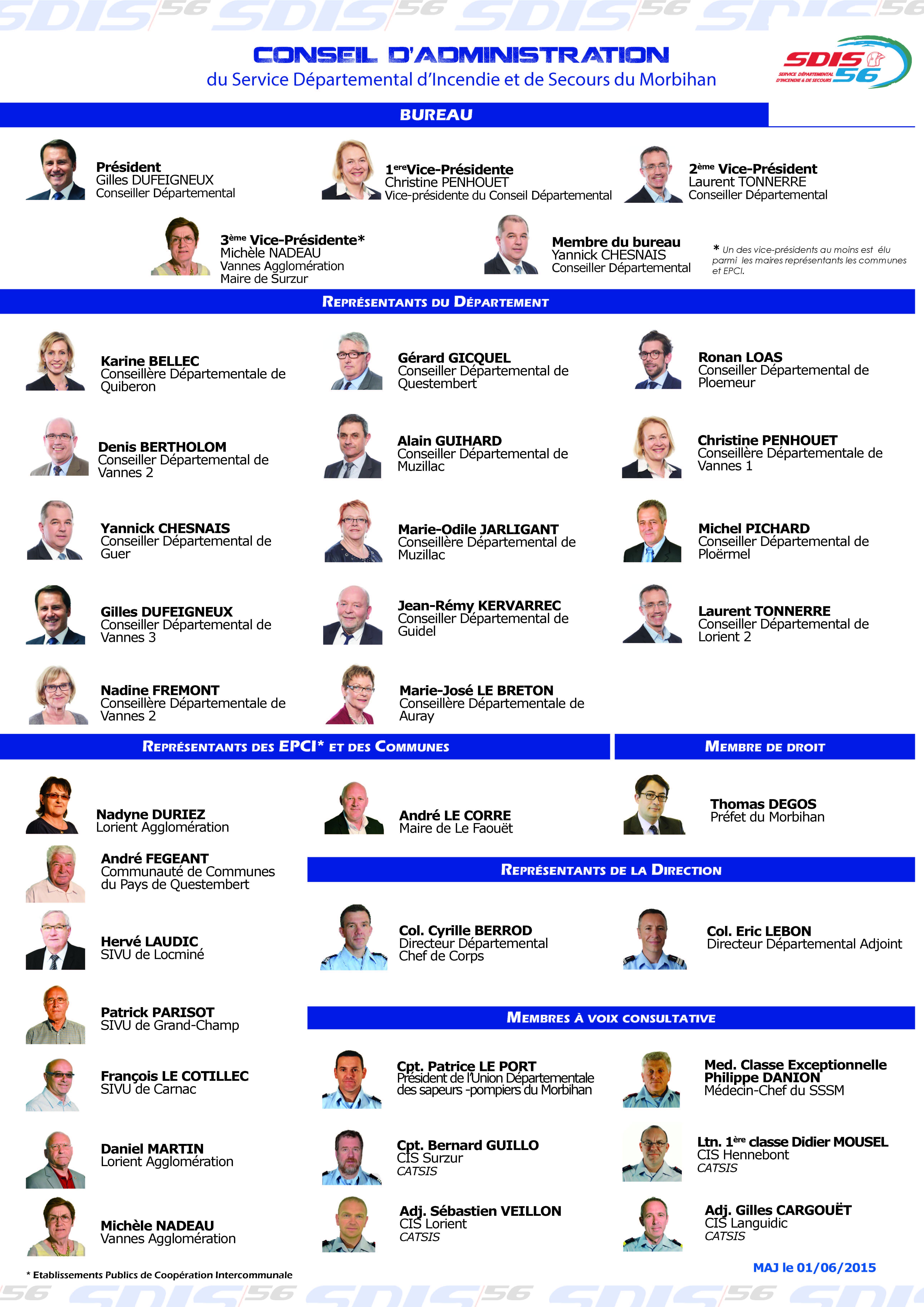 Conseil D Administration Sdis 56 Sapeurs Pompiers Du