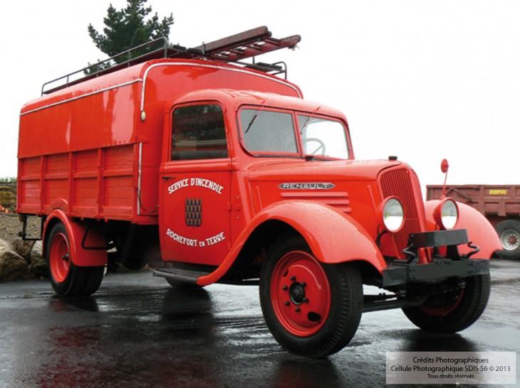 1937 camionnette d incendie renault sdis 56 sapeurs pompiers du morbihan. Black Bedroom Furniture Sets. Home Design Ideas