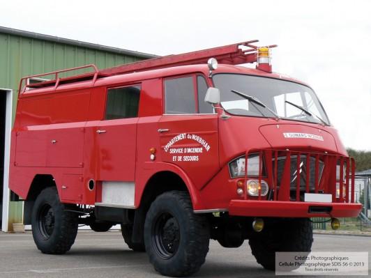 Fourgon d'Incendie Lourd Hors routes FILH - Guinard Incendie 1969