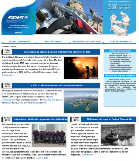 Aperçu du site version 2013